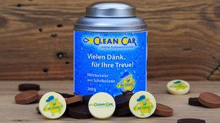 Bedruckte Meistertaler und Banderole im Clean Car Look
