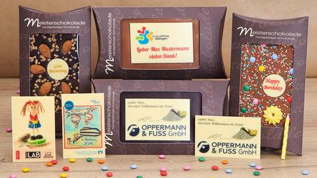 Mitarbeitergeschenke aus Schokolade