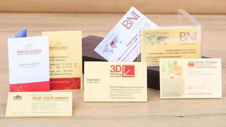 Visitenkarten aus Schokolade