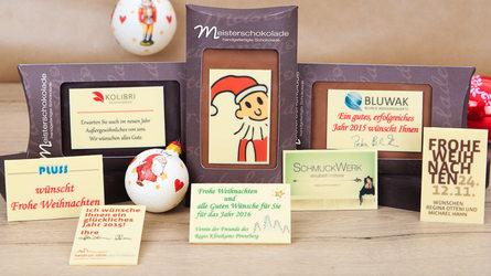Attraktive Weihnachtsgeschenke für Firmen aus feinster belgischer Schokolade