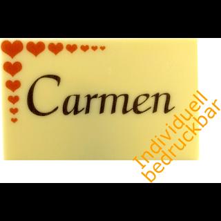 Tischkarte Aus Schokolade Mit Foto Oder Namen Bedrucken Lassen